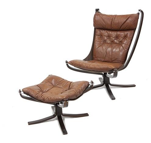 Falcon Chair Poltrona con poggiapiedi 2 works by Sigurd Ressell on ...