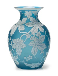 vase by thomas webb and sons (co.)