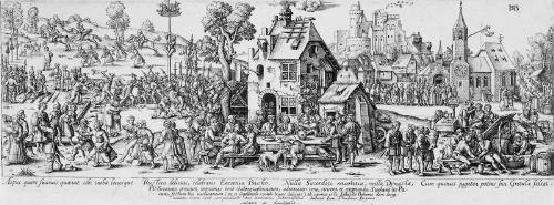 dorfkirchweih (after hans sebald beham) by johann theodor de bry