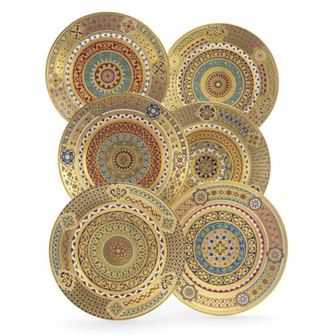 a set of russian dinner plates (set of 6) by kornilov bros.  sc 1 st  Artnet & A set of Russian dinner plates set of 6 by Kornilov Bros. on artnet