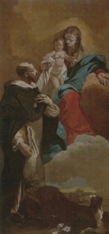 the madonna and child with saint dominic by francesco zugno the younger
