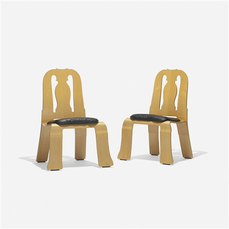 queen anne chairs pair by robert venturi