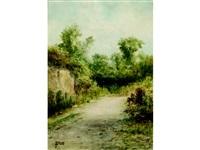 verdant country path by j. g. brunn