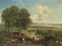 landscape with figures by john hilder