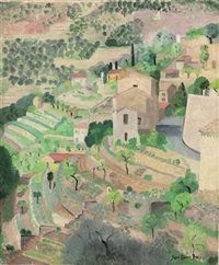 mediterranean village by jane simone bussy