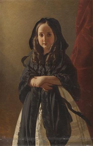 portrait prinzessin charlotte von belgien tochter von könig leopold i von belgien collab wworkshop by franz xaver winterhalter