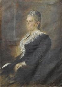 porträt einer hamburger dame by franz seraph von lenbach