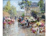 le marché aux fleurs by sergei filitov