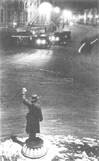police officer directing traffic by mark markov-grinberg