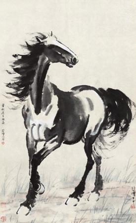 盛妆舞步 horse by xu beihong