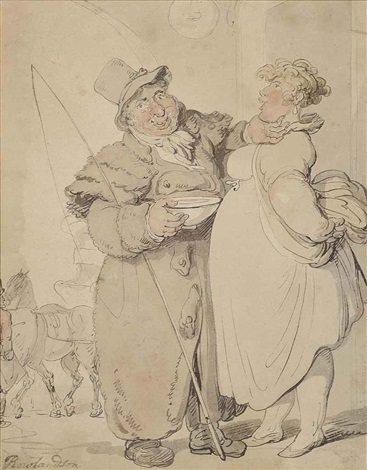 the leering coachman by thomas rowlandson