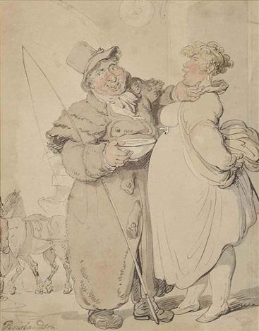 the leering coachman by thomas rowlandson