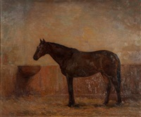 horse in a stall by john frost