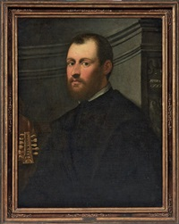 ritratto di musicista by domenico tintoretto