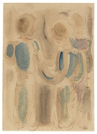 drei stehende figuren by oskar schlemmer