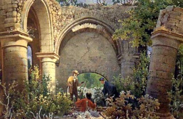bland ruinerna i helge andskyrkan i visby by carl svante hallbeck