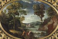 paesaggio con ninfa e satiro by pier paolo (g.b. carracci) bonzi