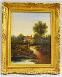 pastoral landscape by george bates