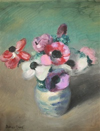 flowers in a vase by alfred dunet