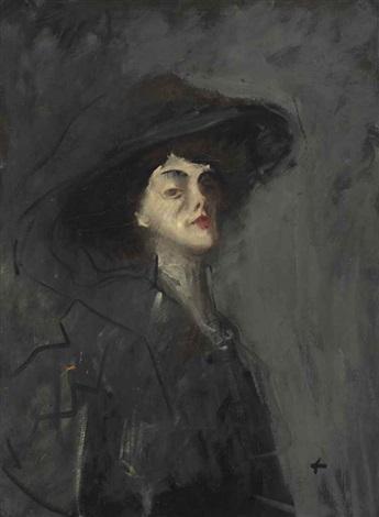 femme au chapeau by jean louis forain