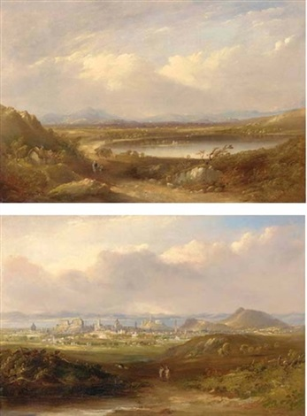the lake of menteith a prospect of edinburgh 1851 2 works by henry g duguid
