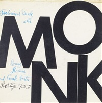 thelonious monk with sonny rollins and frank foster by monk (record cover) by andy warhol and julia warhola