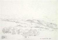 die küste zwischen civita lavinia und monte circeo, gesehen aus richtung der monti lepini by georg friedrich gmelin