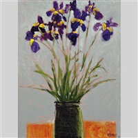 le bouquet d'iris by claude a. simard