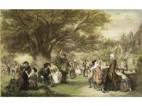 an english merrymaking a hundred years ago by william powell frith
