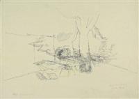 gasthausgarten (+ über den dächern von linz; 2 works) by peter kubovsky
