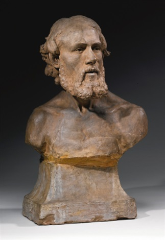 bust of a man by aimé jules dalou