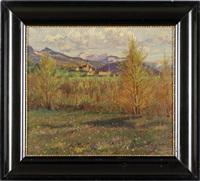 ansicht aus salzburg im hintergrund das tennengebirge by albin müller-rundegg