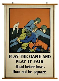 play the game and play it fair by posters: sports