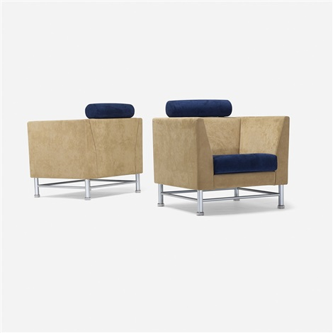 eastside lounge chairs pair by ettore sottsass