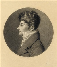 portrait of jean-philippe bronner in profile to the left by jean jacques karpff