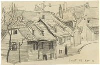 untitled (street in or around weimar) by lyonel feininger