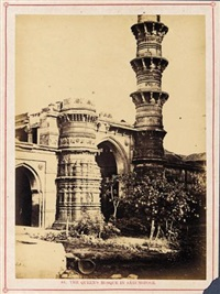the queen's mosque in sárungpoor (from architecture at ahmedabad) by thomas biggs