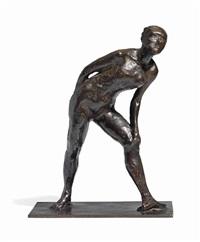 danseuse se frottant le genou by edgar degas