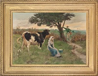the dairymaid and her admirers by randolph caldecott