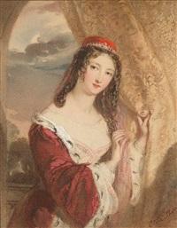 bildnis einer jungen dame in orientalischem kostüm by eliza sharpe
