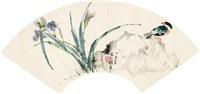 蝴蝶花翠鸟 by xu shiqi