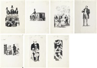 illustrations for emile zola's money (set of 7) by natan isaevich altman