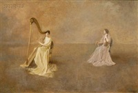 the duet (or the interlude) by thomas wilmer dewing
