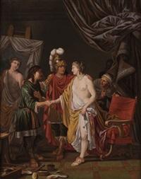 alexander der grosse überlässt dem maler apelles seine geliebte campaspe by johann heiss