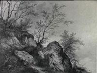 klippelandskab med birketraeer by vinzenz kreuzer