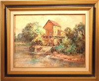 landscape with mill by george a. newman