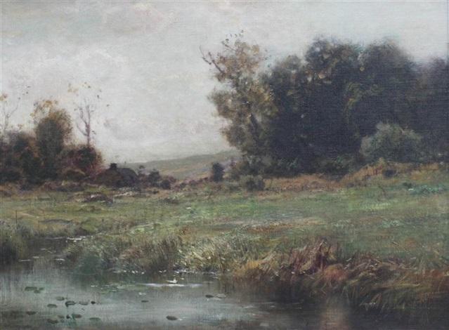 pond landscape by arthur parton