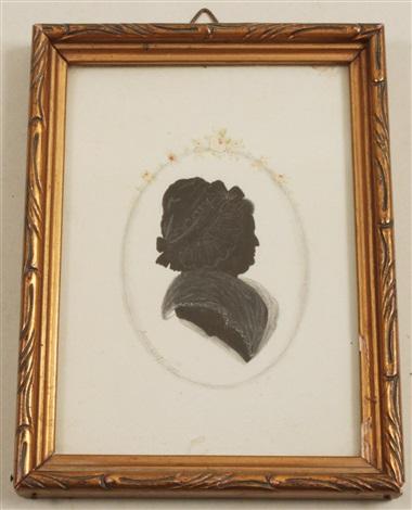 profilbild einer matrone silhouette by anton graff