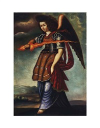 st. michael the archangel (2 works) by peruvian school-cuzco (19)