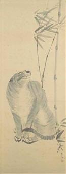a tiger and bamboo by yamaguchi soken